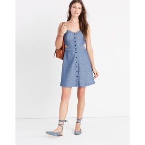 Madewell Chambray Cutout Cami Mini Dress